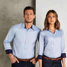 Kustom Kit Long Sleeve Contrast Premium Oxford Shirt