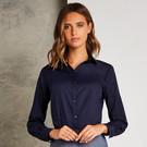 Kustom Kit Women's Poplin Blouse Long Sleeve
