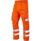 Leo Workwear Bideford ISO 20471 Class 1 Cargo Trouser Tall