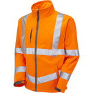 Leo Workwear Buckland ISO 20471 Class 3 Softshell Jacket