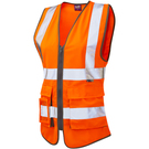 Leo Workwear Lynmouth ISO 20471 Class 1* Women's Superior Waistcoat