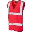 Leo Workwear Tarka ISO 20471 Class 2 Waistcoat Red