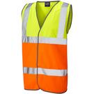 Leo Workwear Tarka ISO 20471 Class 2 Waistcoat Yellow/Orange