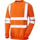 Leo Workwear Winkleigh ISO 20471 Class 3 Crew Neck Sweatshirt