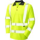 Leo Workwear Woolsery ISO 20471 Class 3 Coolviz Sleeved Polo Shirt