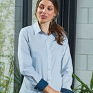 Premier Women's Denim Pindot Long Sleeve Shirt