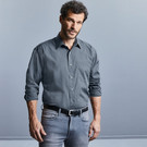 Russell Collection Long Sleeve Easy Care Poplin Shirt Poly Cotton