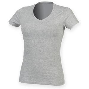 SF Ladies Feel Good V Neck Stretch T-Shirt