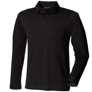 SF Men Long Sleeve Modern Stretch Polo Shirt