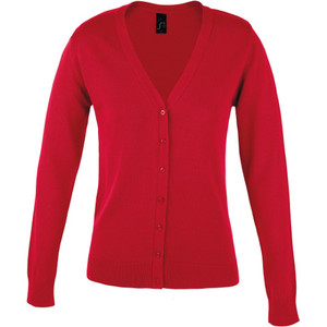 SOL'S Ladies Golden Cotton Acrylic V Neck Cardigan