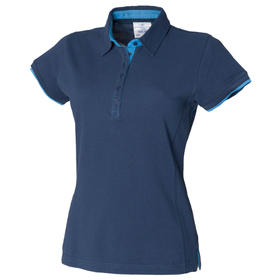 Front Row Women's Contrast Pique Polo Shirt