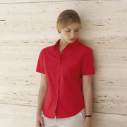 Fruit of the Loom lady fit short sleeve poplin shirt
